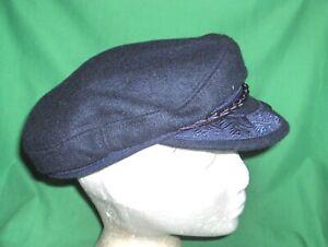 #30342L - DARK BLUE GREEK FISHERMAN'S CAP, HAT - SIZE 7 1/8 - MADE IN GREECE