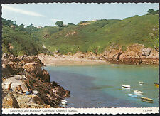 Channel Islands Postcard - Saints Bay and Harbour, Guernsey   E232