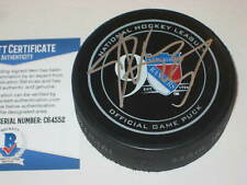 JIMMY VESEY Signed RANGERS 90th Anniversary Official GAME Puck w/ Beckett COA