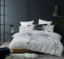The Big Sleep Elka Black Floral Quilt Doona Cover Set - QUEEN KING