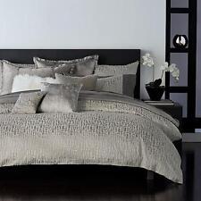 8pc Donna Karan Fuse QUEEN Duvet Cover, Bedskirt, 4 Euro Pillow Shams +2 Gray