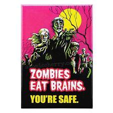 Zombies Eat Brains Fridge Magnet Funny Decor Retro Novelty Kitsch Gag Humour