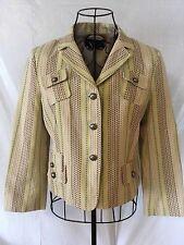BCBG MAX AZRIA Tan Pink Green Yellow Multi Blazer Jacket Coat Women's (S) (M)
