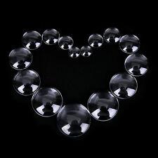 10pcs 8-22mm Transparent Clear Round Shape Flatback Domed Glass Accessories B TG 12mm