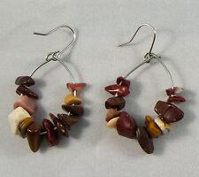 "Handmade Beautiful Stylish Hoop Earrings - Yellow Opal 1.18"" Hook Gemstone Alloy"