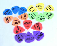 18 x SOFT NYLON GUITAR PICKS plectrum plectrums pick bass acoustic electric