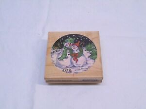 Snowman Couple Christmas Rubber Stamp Stampendous