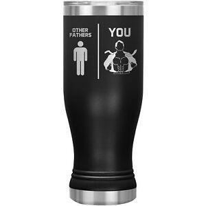 Father Tumbler Pilsner Glass Beer Mug Funny Gift For Birthday Best Present J-66X