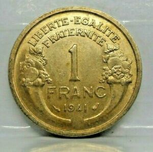 1 franc morlon 1941 - TTB+ - monnaie France - N10434