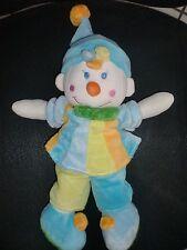 GM doudou peluche clown bleu vert orange MGM DODO D'AMOUR 36cm