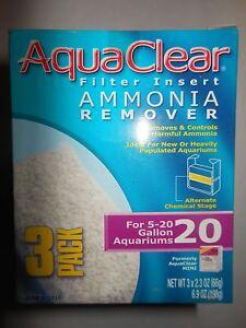 Aqua Clear 20 / Mini Ammonia Remover A-1410 - 3 pack