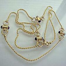 80 cm lange Goldkette 750 mit LapislazuliI Halskette Kette Gold Lapiskette 18 kt