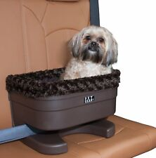 pet gear small dog raised car seat carrier in chocolate swirl with plush pad