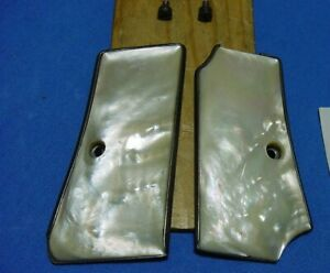 Real MOP Mother of Pearl for Beretta 1934 & 1935 Pistol Grips + Panels & Screws