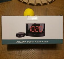 ANJANK Loud Alarm Clock with Wireless Bed Shaker, Powerful Vibrating Alarm Clock