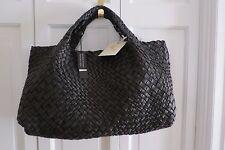 Authentic FALOR Italia Woven Leather Purse/Tote -  Black – NWT - $800+