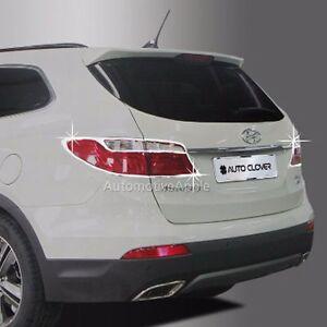 Chrome Rear Lamp Molding Garnish For 2013 2016 Hyundai Santa Fe & XL