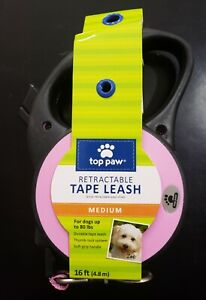 Retractable Dog Leash - Pink with Black Handle (Medium) - New - Free Shipping