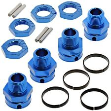 AE Team Associated 1/8 RC8T3 * 17mm HEX HUBS & WHEEL LOCK NUTS * Blue Aluminum