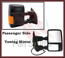 Tow Mirror Right Ford F250 F350 F450 Power Heated Towing Signal Amber Passenger