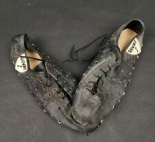 """chaussure cycliste """" RIVAT """" cuir ,vintage,vélo ancien."""