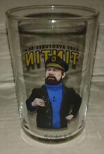 verre glass tintin capitaine haddock  herge 9 x 6 cm vidrio vetro BD film movie