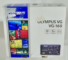 New Olympus Vg-160 14Mp Digital Camera - Orange w/ Battery Charger & Accessories