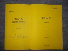 Dienstvorschrift Beschreibung & Einzelteile Pistole P38 - 2.WK - 1940/41