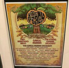 Allman Brothers Gregg Allman's last peachfest concert poster framed