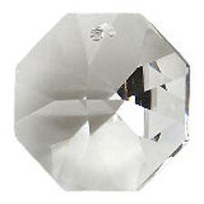 Suncatcher Crystals Clear Octagon Single Hole 14mm Diameter Traditional Cut 10PK