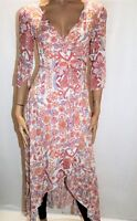 Blossom by Three Brand BOHO Floral Monet Wrap Around Dress Size 6 BNWT #TG33