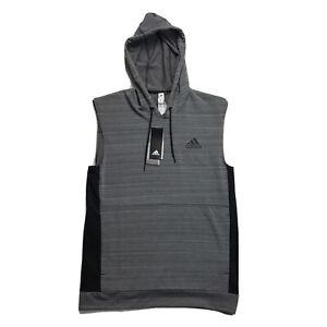 Adidas Sleeveless Training Hoodie Climalite Grey Mens Size Small CV4812 $55
