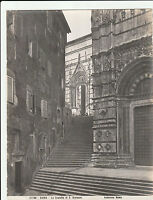 Large Antique ALBUMEN PHOTO PRINT, ROME Siena Scalette Giovanni ANDERSON 1813-77