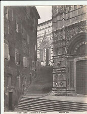 Large Antique ALBUMEN PHOTO PRINT, ROME Siena Scalette Giovanni ANDERSON 1813-77
