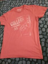 Jack And Jones Red T Shirt College Apparel 1975 Small
