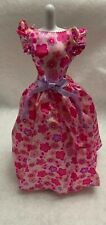 Barbie Doll Ball gown Princess Pink Floral Print Party Dress
