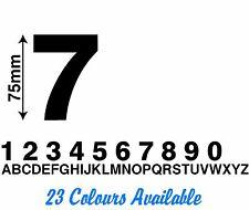 Custom Number or Letter Sticker(75mm High) Vinyl Cut Letter Made Car Motorbike