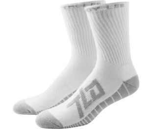 Troy Lee Designs TLD Factory Crew Socks White (3 Pack) Adult Size 8-10