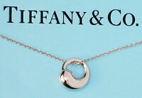 Tiffany & Co Elsa Peretti Sterling Silver Small Eternal Circle Pendant Necklace