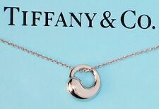 Tiffany & Co Sterling Silver Elsa Peretti Eternal Round Circle Pendant Necklace
