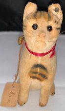 Early Steiff Velvet Felt Cat 1900's w/Button in ear