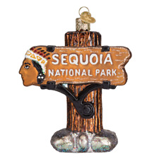 """""""Sequoia National Park"""" (36176) Old World Christmas Glass Ornament w/ OWC Box"""
