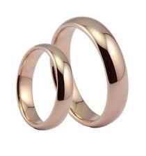 Men Stainless Steel Proposal Size 9 Rose Gold Wedding Ring Simple Fashion Women
