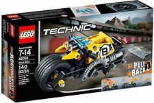 Stunt Motor Bike LEGO Technic Building Toy KIDS with Extra-wide Rims & Tires
