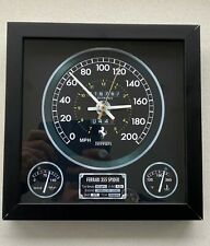 Ferrari F355 themed wall clock-  RARE!