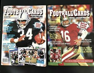 2 Allan Kaye's Football Cards Magazine with Cards Issues 1 & 2 1990