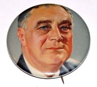 1932 Franklin Roosevelt FDR campaign pin pinback button political presidential