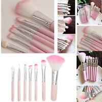 7pcs Pink Makeup Cosmetic Brushes Set Powder Foundation Eyeshadow Lip Brush Set