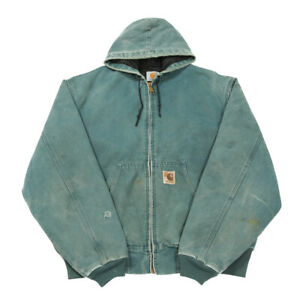80s Vintage CARHARTT Thermal Lined Active Jacket | XL | Hood Duck Canvas Coat