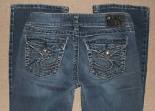 SILVER Jeans Size 29x30 SUKI Surplus Back Flap Thick Stitch LOOK!